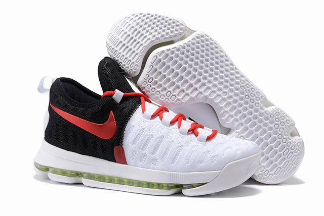 Nike KD 9 Shoes White Black Red